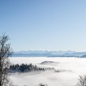 チューリッヒで雲海を見る/ウエトリベルク