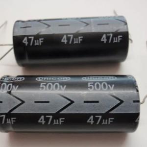 横型電解コンデンサー 500V47μ 22x50m/m