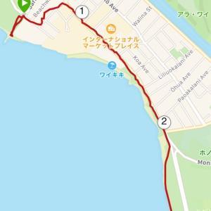 【ハワイ】ワイキキで朝食や朝日を楽しむランニング[女性ランナー]