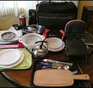 旅装備42:車中泊の調理器具公開 1