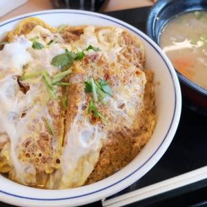 かつや:カツ丼(松)+豚汁(大)