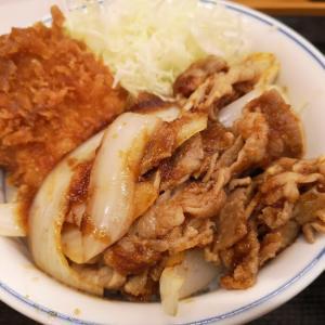 かつや(53)豚ロースタレカツと牛焼肉の合い盛り丼