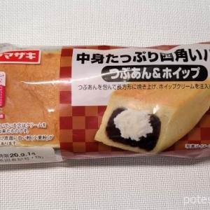 ヤマザキ「中身たっぷり四角いパン つぶあん&ホイップ」