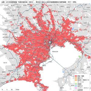 「車社会」と「電車社会」の境界を示した地図がこれらしい……w