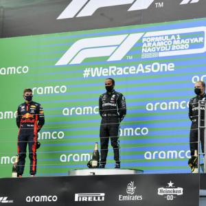 【F1速報2020】第3戦ハンガリーGP決勝:ハミルトン完勝、レッドブル・ホンダのフェルスタッペン2位