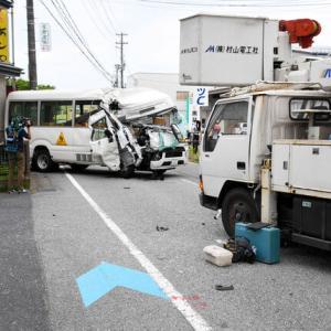 「どちらかが車線はみ出し...」保育園バスと高所作業車が正面衝突...運転手や園児ら11人ケガ/新潟・中央区
