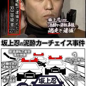 坂上忍、山本寛斎さんの娘を乗せた車で酩酊運転電柱衝突カーチェイス逮捕の過去が...