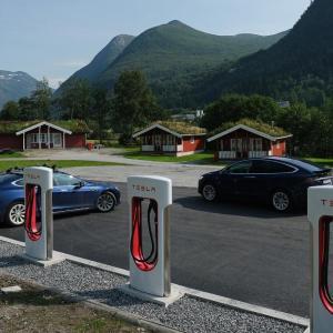 ノルウェー「電気自動車を買うと半額補助!!税金や高速代やフェリー代もタダ」
