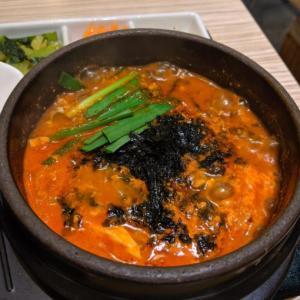 東京純豆腐 新宿東口店ひとりでスンドゥブランチ♪今回は「海苔」入りに挑戦