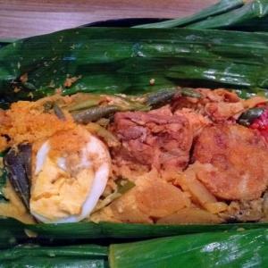 バナナの皮で包まれたスリランカのお弁当ランチ『アプサラ レストラン&バー 』