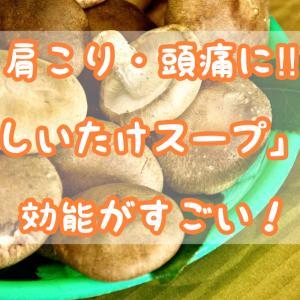 【肩こり・頭痛に】マクロビレシピ「しいたけスープ」の効能がすごい!