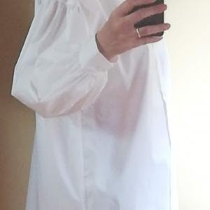 色ち買いしたシャツと新作カシュクールワンピと値下げになったバンドカラーシャツワンピース(着画)