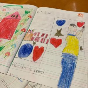 エネルギーいっぱい!たくましい子どもたちが時間いっぱいに英語をよむ!【火曜小学1,2年生クラス】