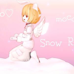 もこもこスボンで雪うさぎちゃん