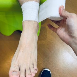 足関節 包帯固定