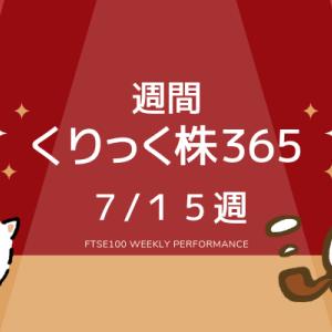 【FTSE100】7/15週のくりっく株365のパフォーマンス