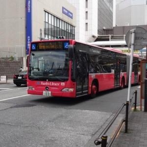 都内で初めて連節バスを運行中