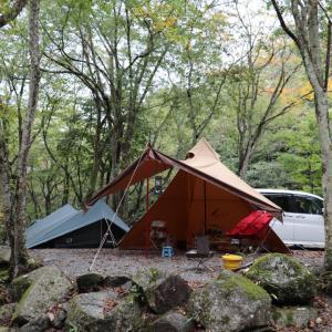 台風の翌週  山伏オートキャンプ場
