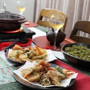 天ぷら蕎麦鍋