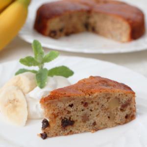 バナナ&くるみ&レーズンの・・・簡単ケーキ!