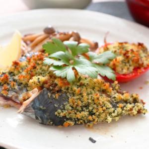 鯖の香草パン粉焼き