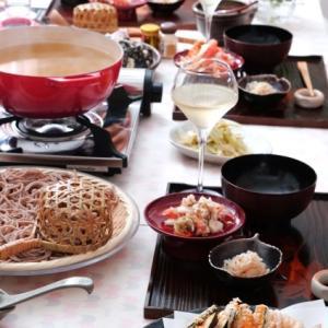 さぶいので・・・天ぷら蕎麦鍋!