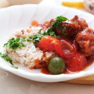 ミートボールのさっとトマト煮