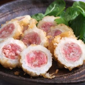 白ゴーヤに豚粗挽き肉を詰めて揚げてみた!