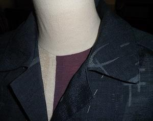 開襟シャツを縫う