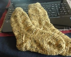 NO47手編みの靴下