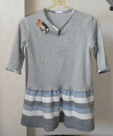 七分袖ニットシャツ