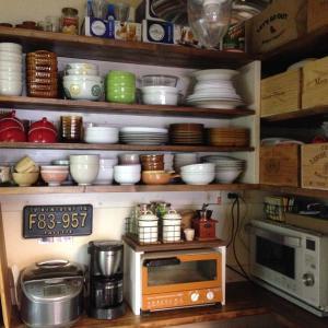 【キッチン】収納棚を使いやすく… 見た目重視で使ってた ワイン木箱、やめようかな。(後編)