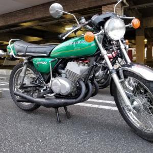 「〝Kawasaki  KH400〟のフルレストア」