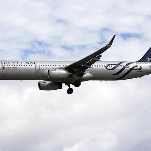 中国東方航空 スカイチーム A321 福岡空港
