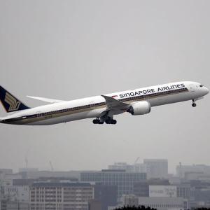 シンガポール航空 B787X 福岡空港