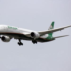 エバー航空 B787X 福岡空港