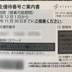 ANA,JAL,SFJの航空3社から株主優待券到着