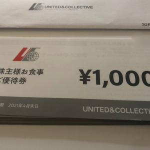 United &Collective (てけてけ、the 3rd Burger)から優待