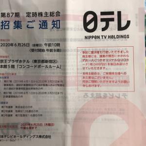 日本テレビホールディングスは議決権の事前行使限定で500円のQUOカード