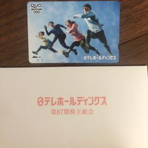 日テレから株主総会議決権行使御礼+山口FGのカタログギフト
