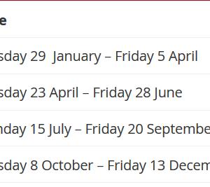 ブリスベン生活 QLD州のターム一覧《スクールホリデー2019年、2020年》