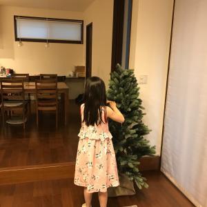 一気にクリスマスな超お気に入りツリー。出したの昨年と全く同じ日でした