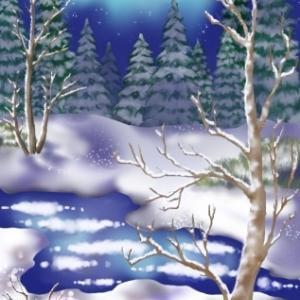 雪景色 完成
