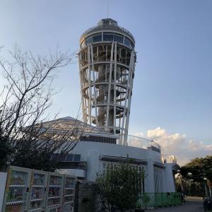 江ノ島SeaCandleから見た夕日
