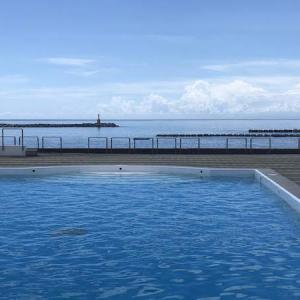 松崎伊東園ホテルのプール|松崎旅行〈17〉