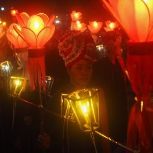 シャン州カロー・タザウンダインの祭り