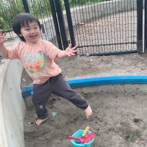 公園で空手の練習❤️