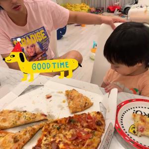 みんなでピザ‼️
