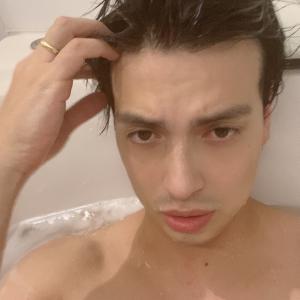 カゲトラとお風呂中