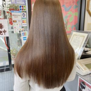 定期的に髪質改善トリートメントをすると綺麗になります。